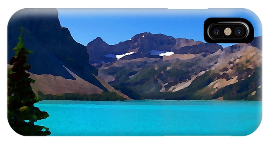 Scenic IPhone X Case featuring the photograph Azure Blue Mountain Lake by Greg Hammond