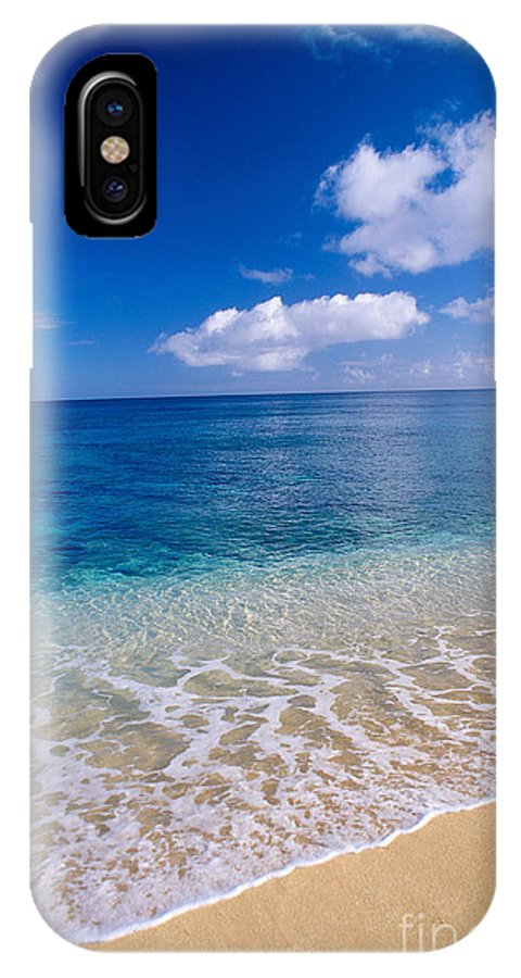 Aqua IPhone X Case featuring the photograph Azure Ocean by Peter French - Printscapes