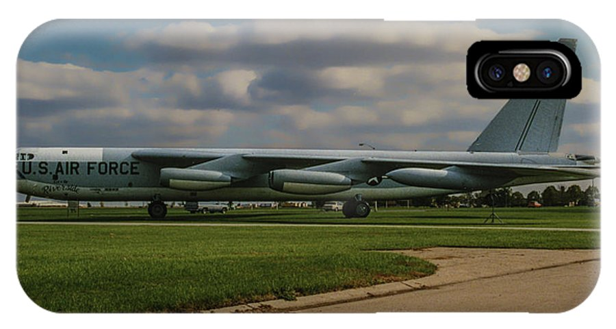 Boeing B-52 Stratofortress IPhone X Case featuring the photograph B-52 City Of Riverside by Tommy Anderson