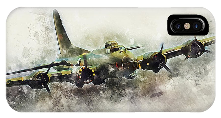 B17 Flying Fortress - Painting IPhone X Case