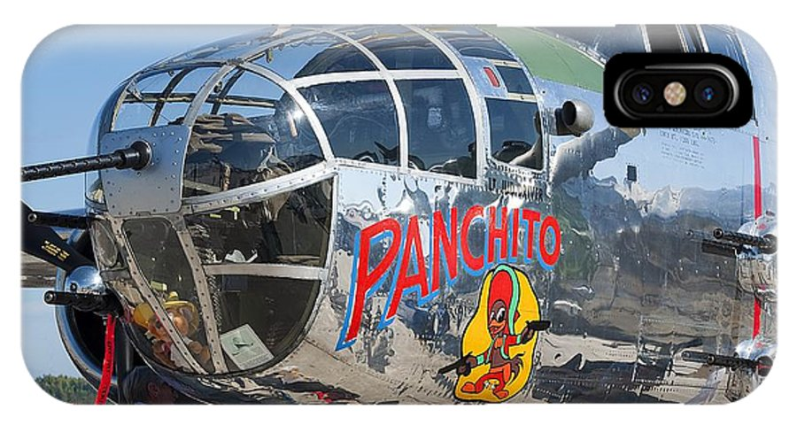 Airplane IPhone X Case featuring the photograph B25 by Kenneth Albin