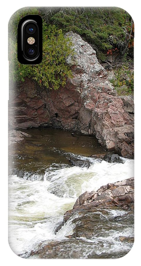 River IPhone X Case featuring the photograph Babbling by Kelly Mezzapelle