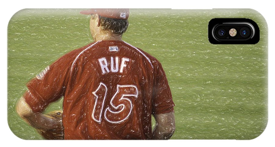 Baseball IPhone X Case featuring the photograph Babe Ruf by Trish Tritz
