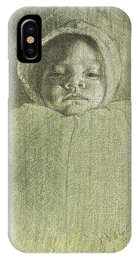 IPhone X Case featuring the painting Baby Self Portrait by Joe Velez