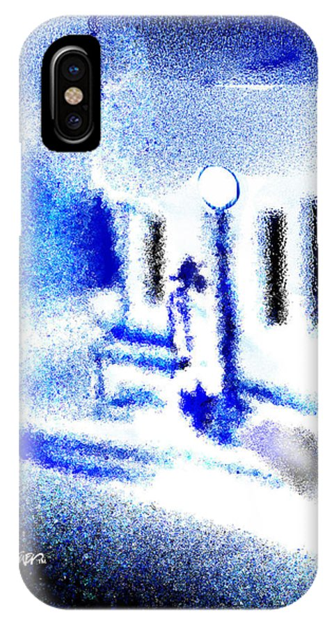 Back Alley IPhone X Case featuring the digital art Back Alley Rendezvous by Seth Weaver