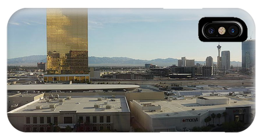 Las Vegas IPhone X Case featuring the photograph Back Strip by Nancie DeMellia