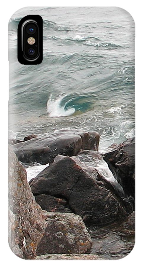 Wave IPhone Case featuring the photograph Back Swirl by Kelly Mezzapelle