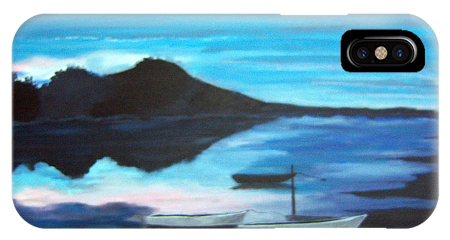 Water IPhone X Case featuring the painting Backwater by Nancy Nuce