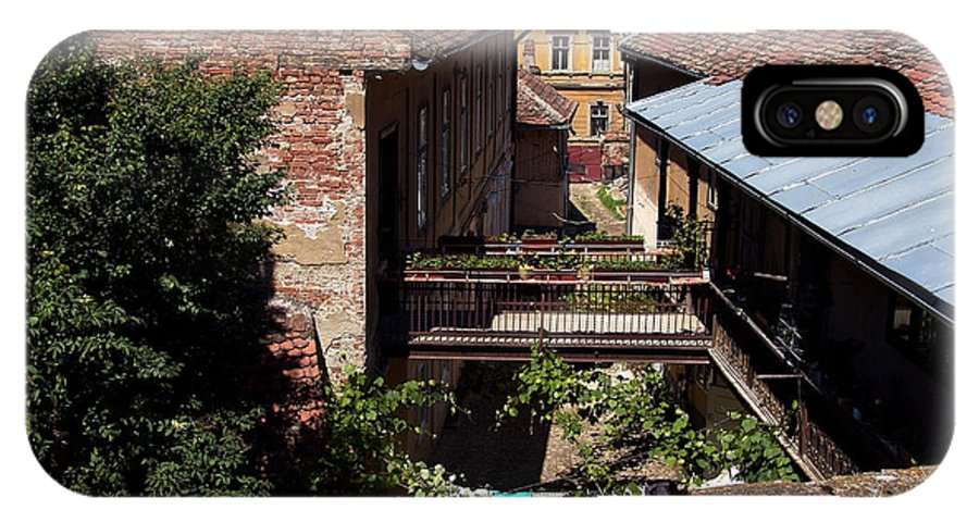 Backyard IPhone X Case featuring the photograph Backyard by Adrian Bud