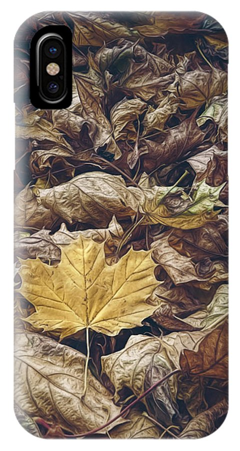 Scott Norris Photography IPhone X Case featuring the photograph Backyard Leaves by Scott Norris