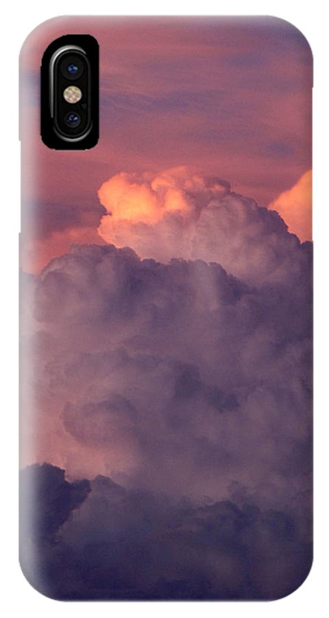 Clouds IPhone X Case featuring the photograph Backyard Sky by Cathy Franklin