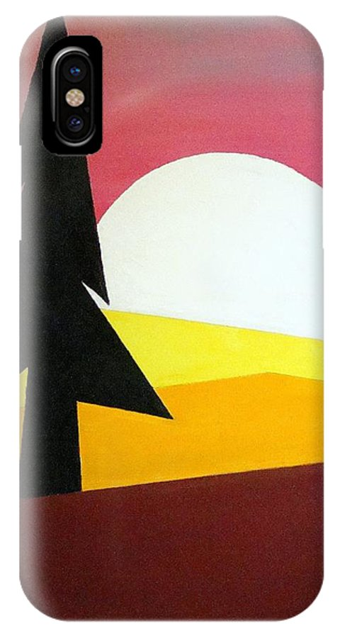 Phases Of The Moon IPhone Case featuring the painting Bad Moon Rising by J R Seymour