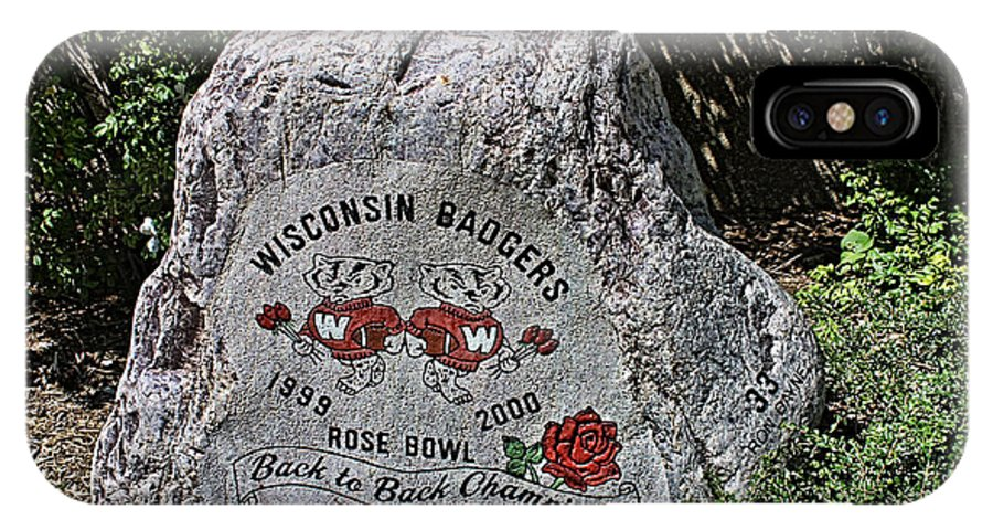 Camp Randall IPhone X Case featuring the photograph Badgers Rose Bowl Win 2000 by Tommy Anderson