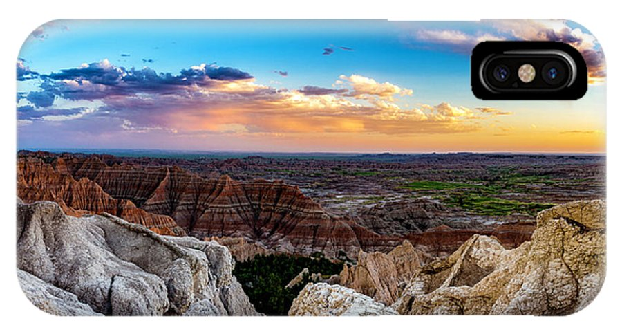 Badlands IPhone X Case featuring the photograph Badlands Np Pinnacles Overlook 3 by Donald Pash