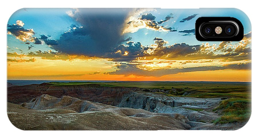 Badlands IPhone X Case featuring the photograph Badlands Np Wilderness Overlook 1 by Donald Pash