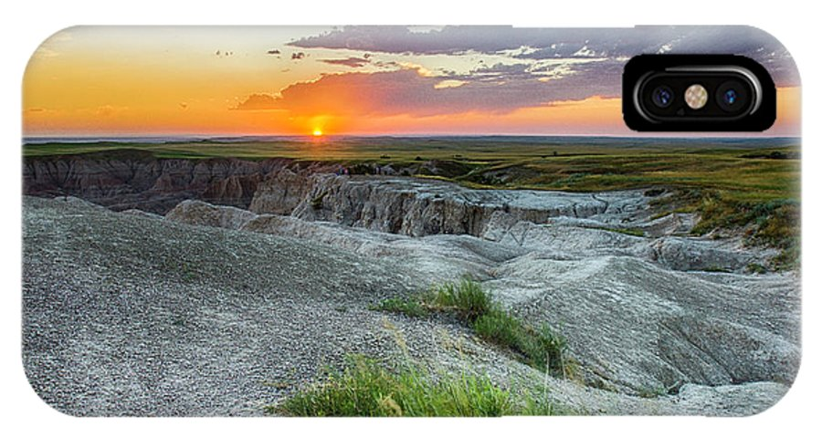 Badlands IPhone X Case featuring the photograph Badlands Np Wilderness Overlook 3 by Donald Pash