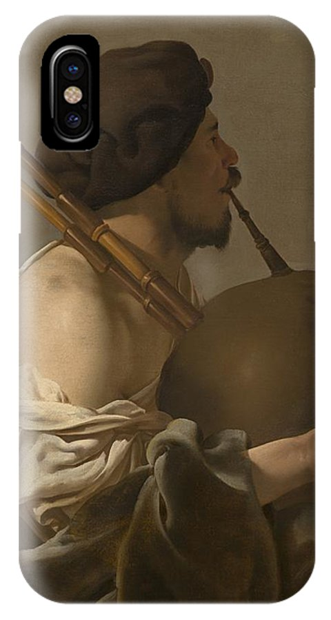 IPhone X Case featuring the painting Bagpipe Player by Hendrick Ter Brugghen