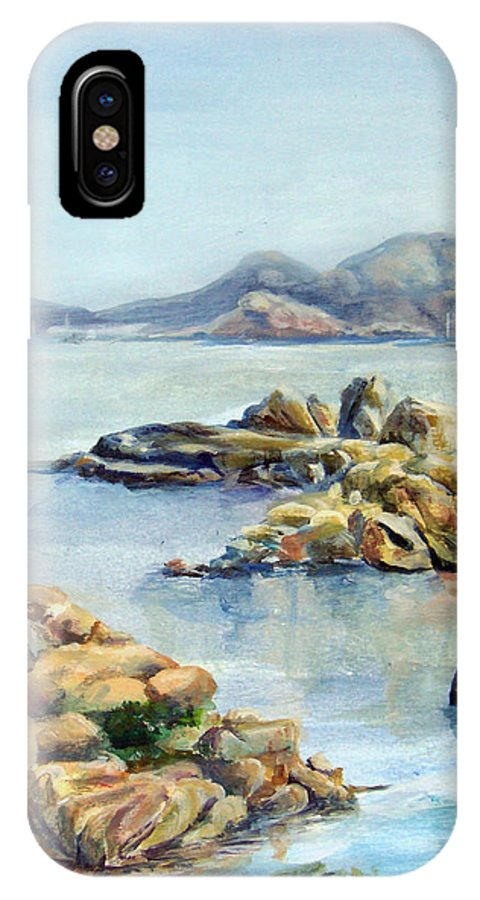 Landscape IPhone X Case featuring the painting Baie by Muriel Dolemieux