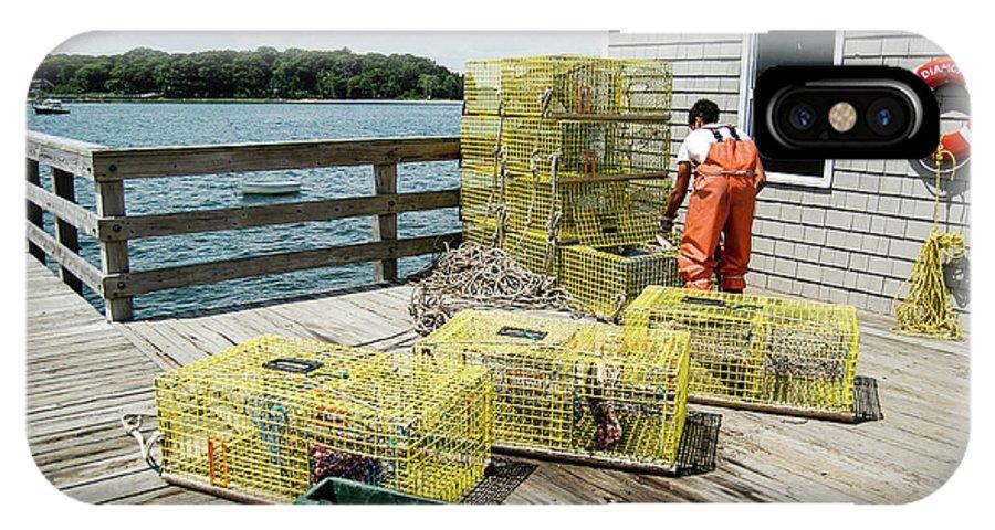 Bait IPhone X Case featuring the photograph Baiting Lobster Traps by Faith Harron Boudreau
