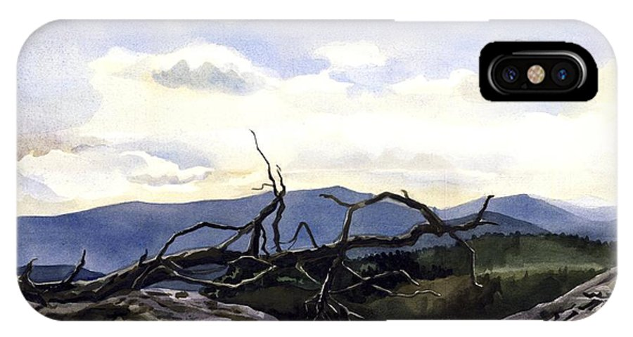 Landscape Painting IPhone Case featuring the painting Baker Dam Colorado by Alfred Ng