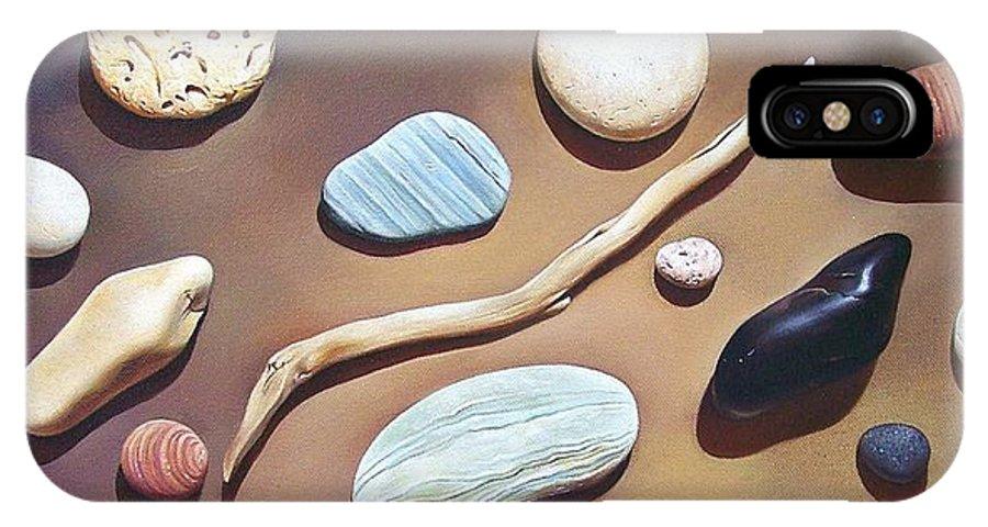 Still Life IPhone X / XS Case featuring the painting Balance by Elena Kolotusha