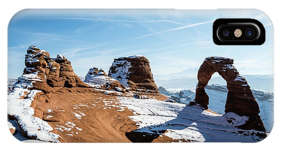 Delicate Arch Wide View IPhone X Case featuring the photograph Delicate Arch Wide by Robert VanDerWal