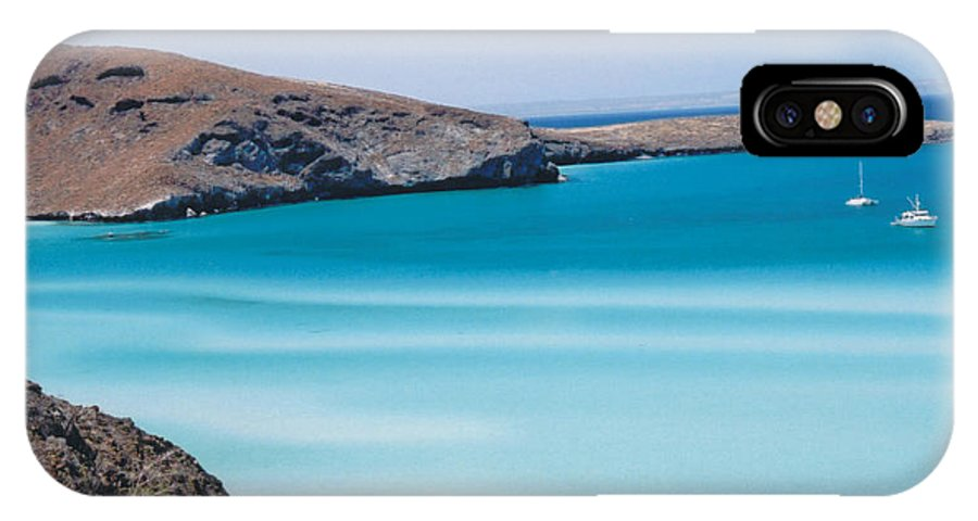 Blue IPhone X Case featuring the photograph Balandra Bay by Kathy Schumann