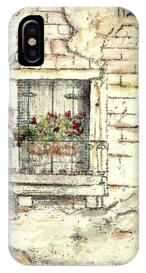 Venice IPhone Case featuring the painting Balcony Venice by Richard Bulman