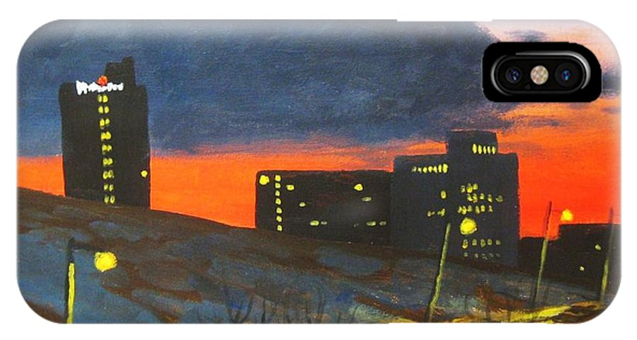 Sunset IPhone Case featuring the painting Balcony View 2 by John Malone
