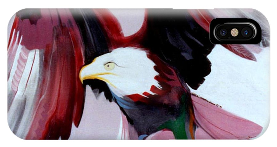 Birds IPhone Case featuring the painting Bald-e by Marlene Burns