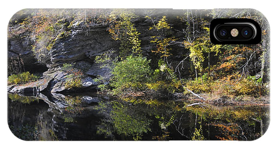 Bald River IPhone X Case featuring the photograph Bald River Autumn Reflection by Darrell Young