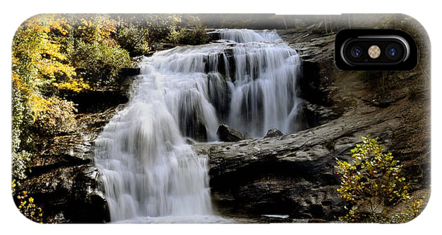 Autumn IPhone X Case featuring the photograph Bald River Falls In Autumn by Darrell Young