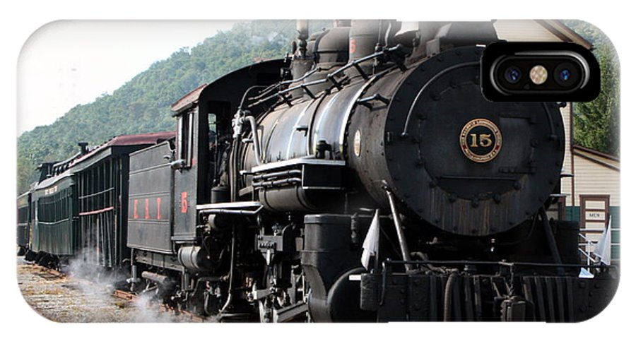 Locomotive IPhone X Case featuring the photograph Baldwin Locomotive Number Fifteen by Rebecca Smith