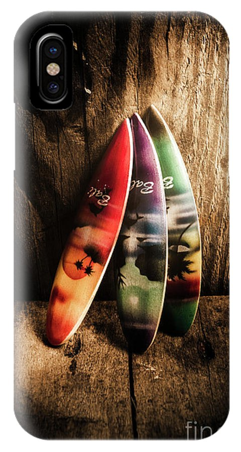 Surfboard IPhone X Case featuring the photograph Bali Beach Surf Holiday Scene by Jorgo Photography - Wall Art Gallery