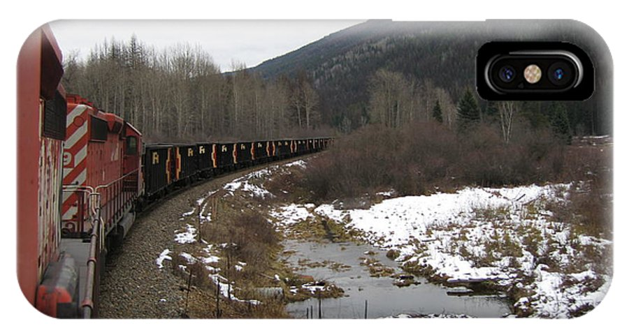 Photograph Train Mountain Snow Winter Tree Nature IPhone X / XS Case featuring the photograph Ballast Train by Seon-Jeong Kim