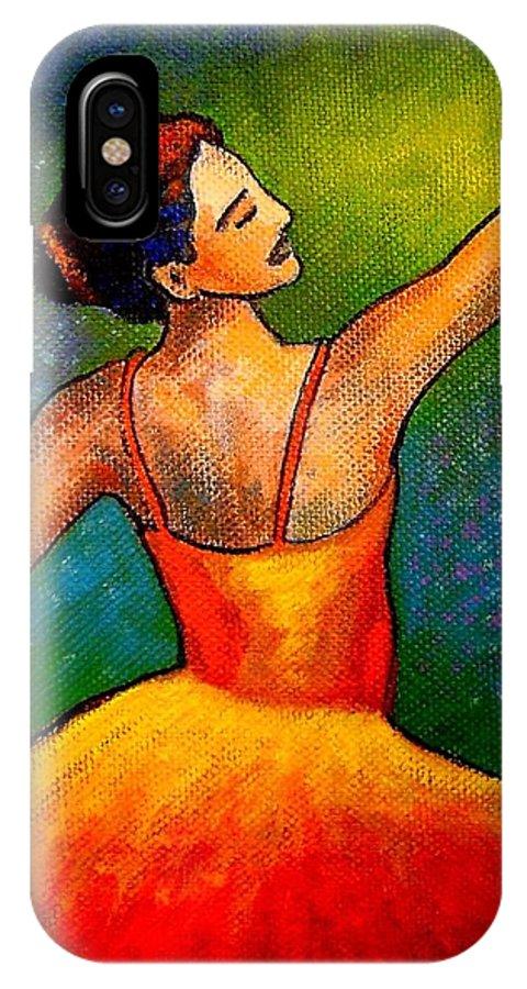 Ballerina IPhone X Case featuring the painting Ballerina by John Nolan
