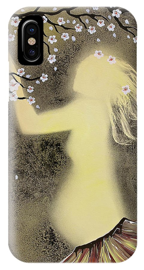 Body Prints Painting IPhone X / XS Case featuring the painting Ballerina Maternity by April Kasper