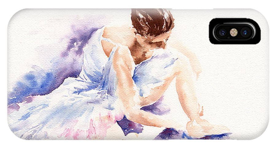 Ballerina IPhone X Case featuring the painting Ballerina by Stephie Butler