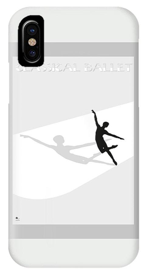 Ballet IPhone X Case featuring the digital art Ballet by Joaquin Abella