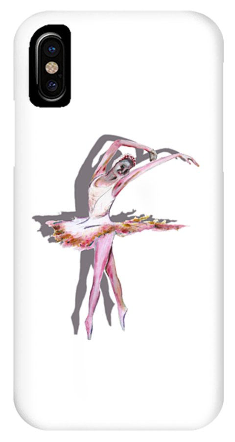 Dancing IPhone X Case featuring the painting The Ballerina dance art remix by Tom Conway