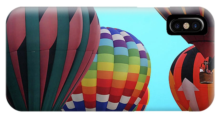 Balloon IPhone X Case featuring the digital art Balloon Glow I by DigiArt Diaries by Vicky B Fuller