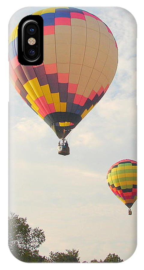 IPhone X Case featuring the photograph Balloon Race by Luciana Seymour
