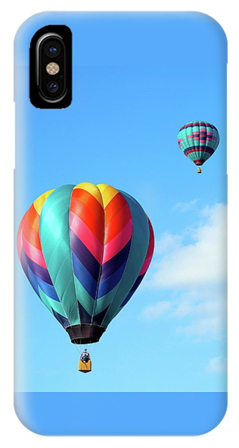 Ballons IPhone X Case featuring the photograph Balloons by Linda Cupps