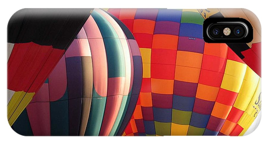 Hot Air Balloons IPhone X Case featuring the photograph Balloons by Margaret Fortunato