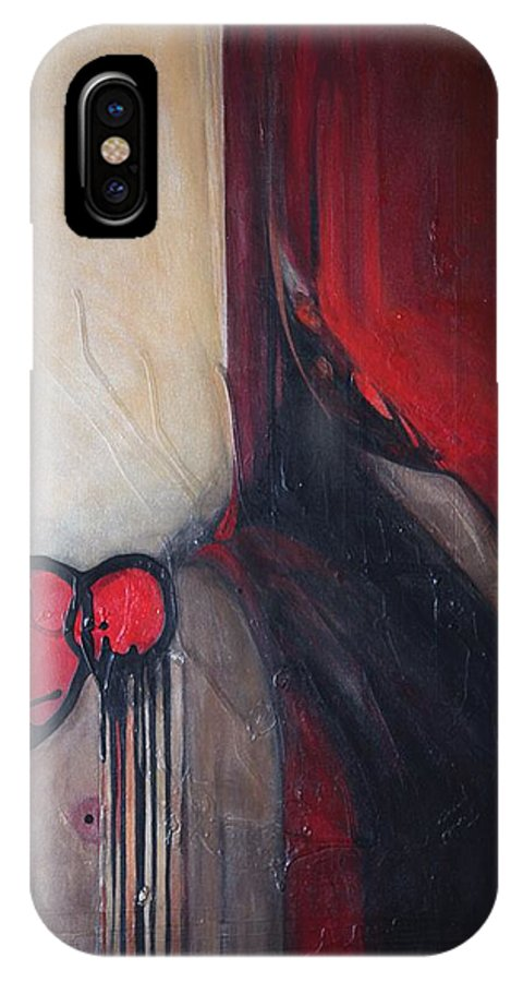 Abstract IPhone Case featuring the painting Ballz by Marlene Burns
