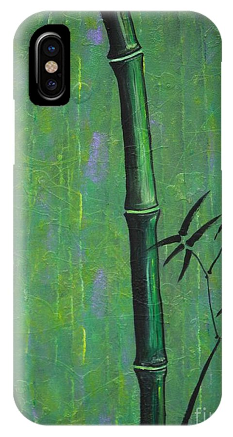 Bamboo IPhone X Case featuring the painting Bamboo by Jacqueline Athmann
