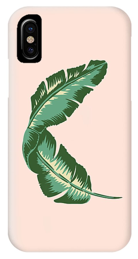Leaf IPhone X Case featuring the digital art Banana Leaf Square Print by Lauren Amelia Hughes