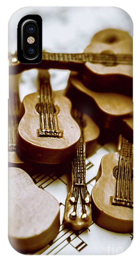 Music IPhone X Case featuring the photograph Band Of Live Acoustic Guitars by Jorgo Photography - Wall Art Gallery