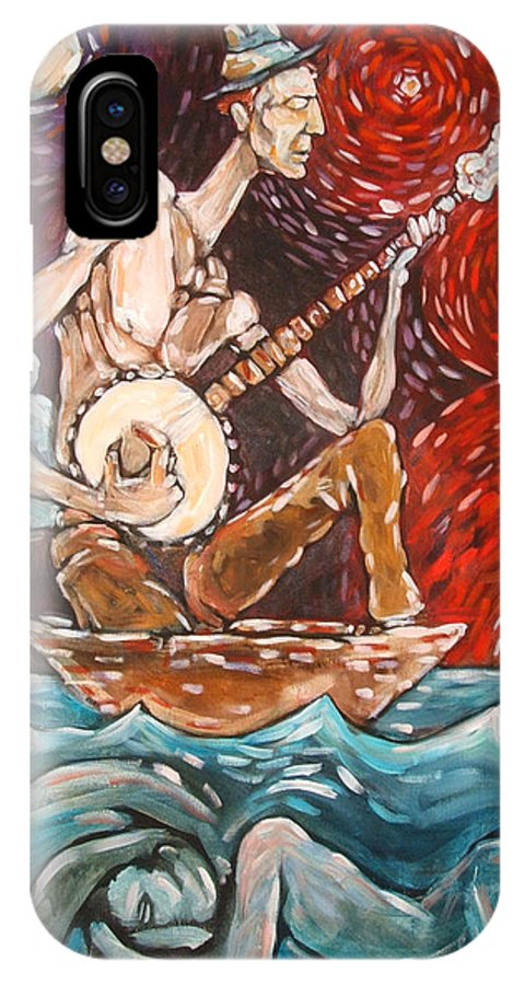 Banjo IPhone Case featuring the painting Banjo Sailor by Chad Elliott