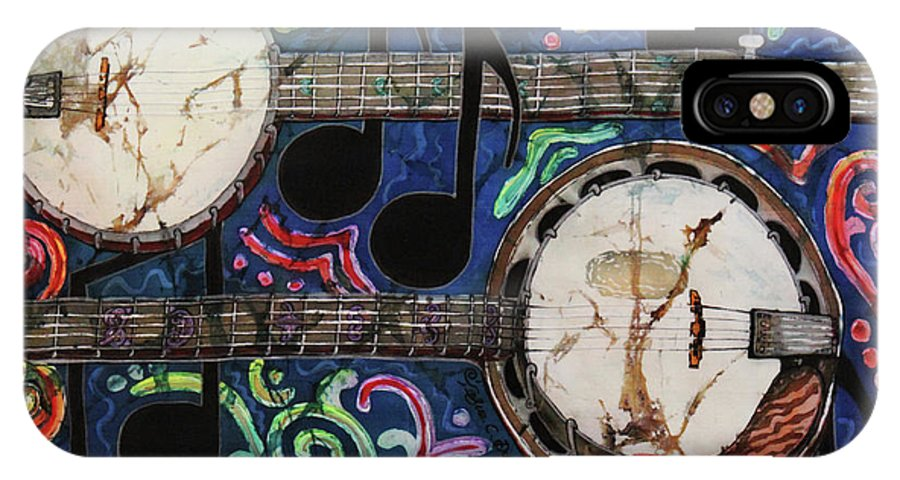 Banjos IPhone Case featuring the painting Banjos by Sue Duda